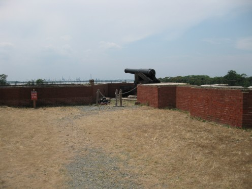 Cannon on the roof.