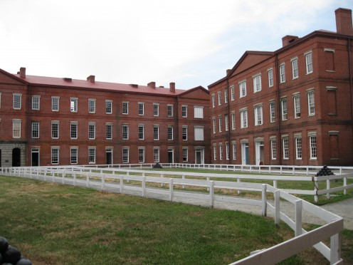 Interior staff offices and general quarters.