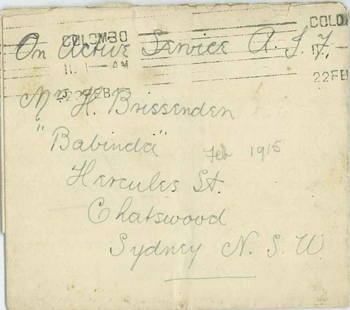 Envelope addressed to Reginald Trevor's mother