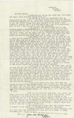 22 Oct 1917: Wounded in the Battle of Pozières - the Somme: WW1 Letter home