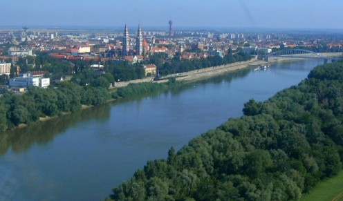 The Tisza River at Szeged