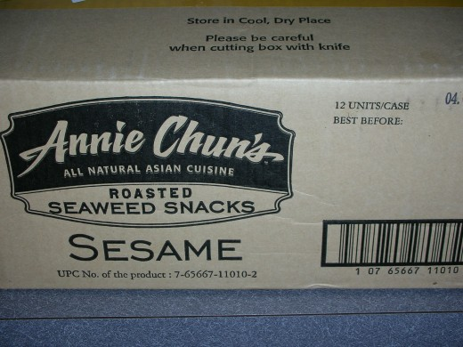 A case of seaweed snacks