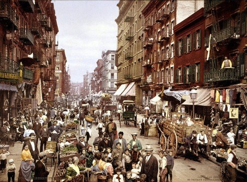 Little Italy - Mulberry Street - on the lower East Side of NYC in 1900.
