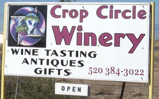 Sign with the winery's distinctive Logo