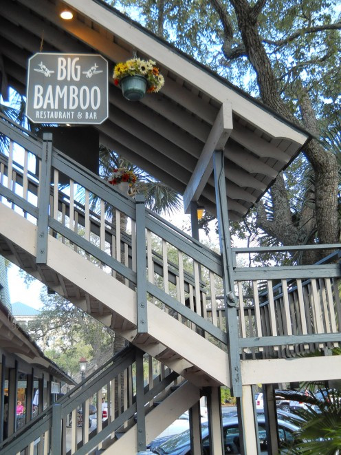 The Big Bamboo is my favorite place to eat lunch as it's perched up high, has a World War II theme and offers great specials. (See next photo). It also has delicious dinners and live entertainment most nights.