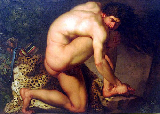 The wound of Philoctetes, by Abildgaar, 1775