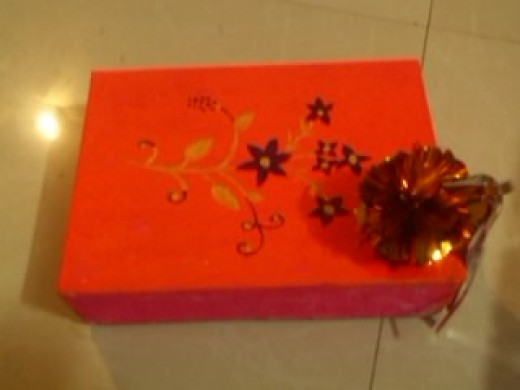 decorated Christmas gift box