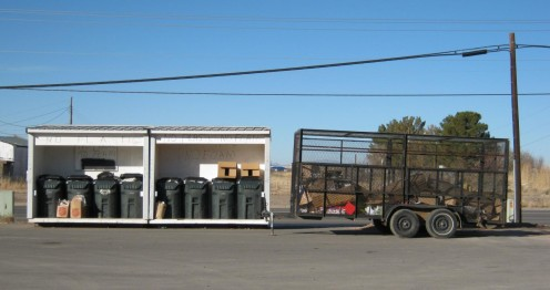 Recycling center in Alamogordo, NM.