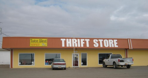 One of the many Thrift Stores in town.