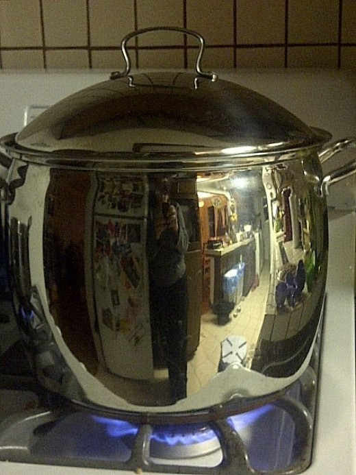 Use a big ol' pot to boil water at home to fill large thermoses which you'll take with you to fill cup o' noodles or hot cocoa