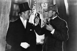 William Powell and John Barrymore as Sherlock Holmes and Dr. Watson
