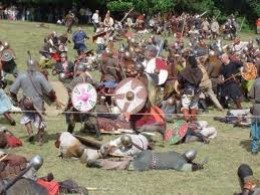 A clash between rival Viking forces - the Danes, Norwegians and Swedes were not overly fond of one another, the few times they united came in the reign of Knut in the 11th Century