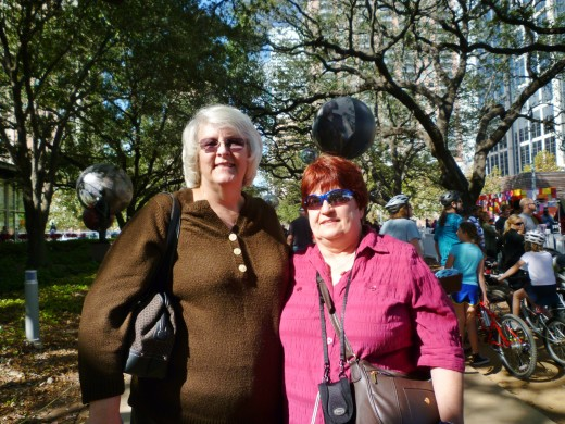 Friends Judi and Teresa who spent the day with me in the park.