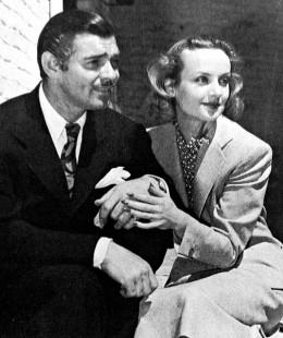 Clark Gable and Carole Lombard.