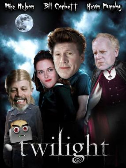 Twilight:  The only way I can bear to watch this.  Twilight fans have also found it highly amusing.