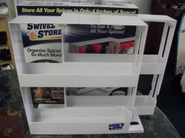 The Swivel Store helps increase cabinet space.  Click on image for larger view.