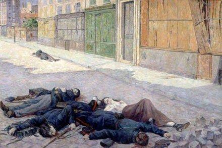 Luce, Un rue de paris en 1871