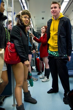 What is the point of no-pants subway ride?