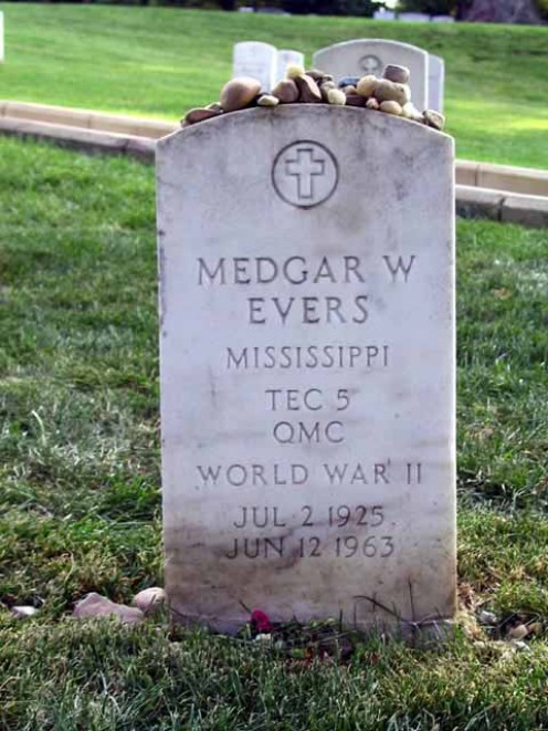 Medgar Evers- Died for his cause at the hand of racism.