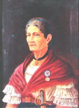 Francisca (Pancha) Carrasco, 1826-1890.  Her contributions to help defend Costa Rica against foreign aggression are nationally recognized.