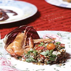 Shrimp and Lentil Salad with Ouzo Recipe