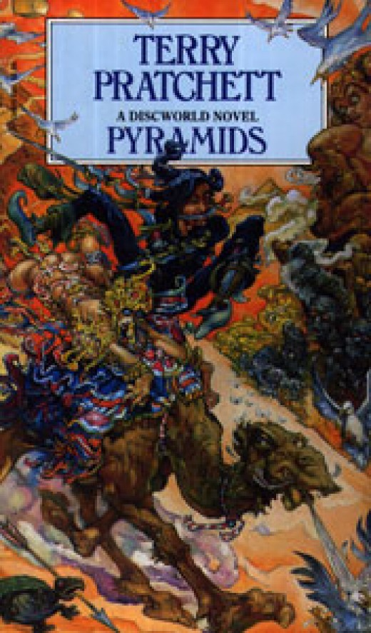 Pyramids is a great choice for a Terry Pratchett book, so is Good Omens.