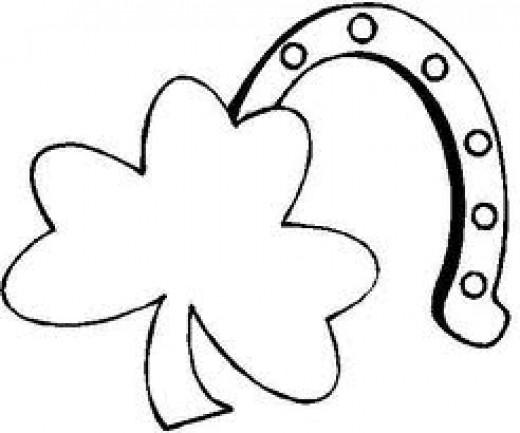 """LUCKY"" 4-leaf clover & Horseshoe!!"