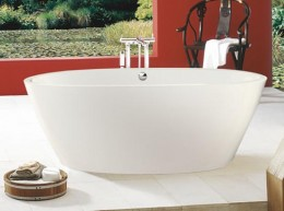 Contemporary Free Standing Baths Can Be An Attractive Feature in Modern Bathrooms