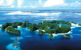 Beautiful Palau Island, Philippine Sea