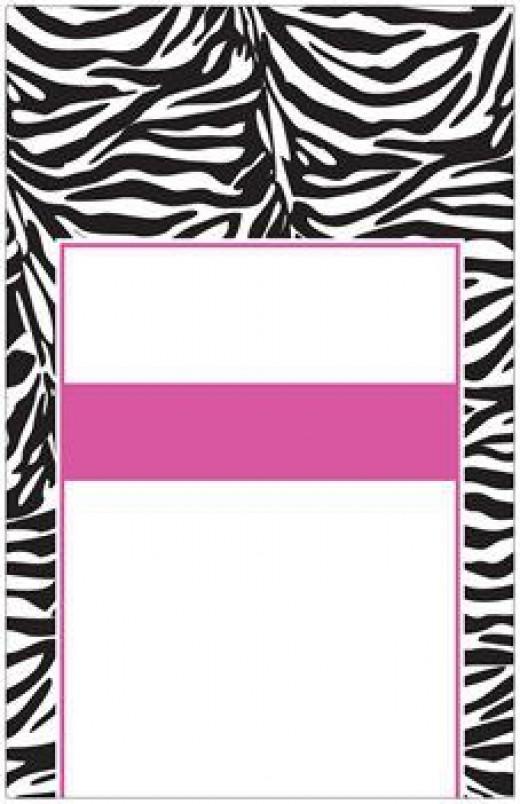 Zebra pink black and white wedding invitations