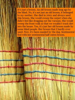 Her Broom ~ A 100-word essay