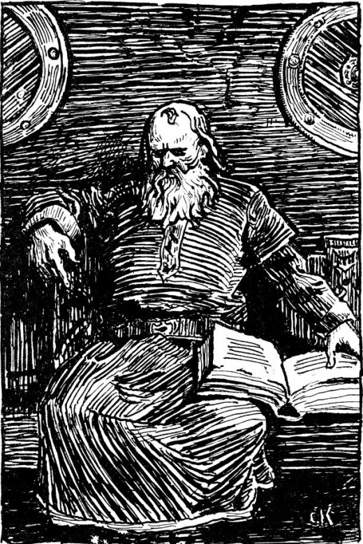 A woodcut portrait of Snorri Sturluson by Christian Krogh dated 1890 - maybe Snorri received some information wrong, but by and large he entertained