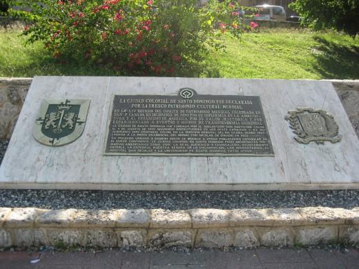 Plaque Located in Ciudad Colonial