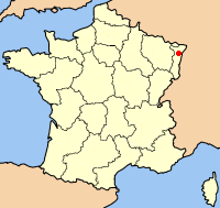 Map location of Strasbourg, France