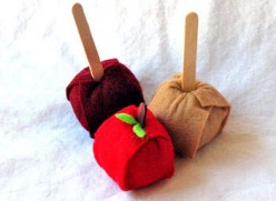 how to make cute felt apples craft