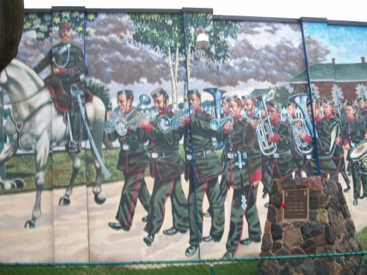 Scarborough Rifle Company mural, Scarborough, Ontario