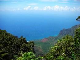 Lookout viewing Napali Coast, Kauai