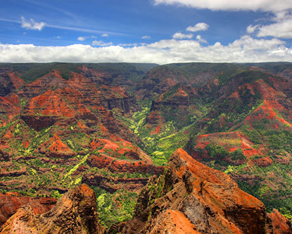 "Majest, beautiful Waimea Canyon, ""Grand Canyon of the Pacific"""