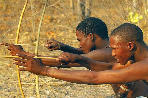 Gudigwa Bushmen hunting in Southern Africa