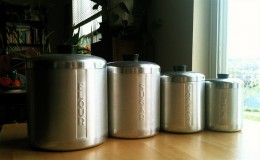 Full Set of Vintage Aluminum Canisters