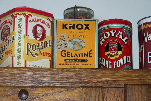 Even nontraditional metal canisters such as these pictured above can be used to store dry goods in your kitchen.