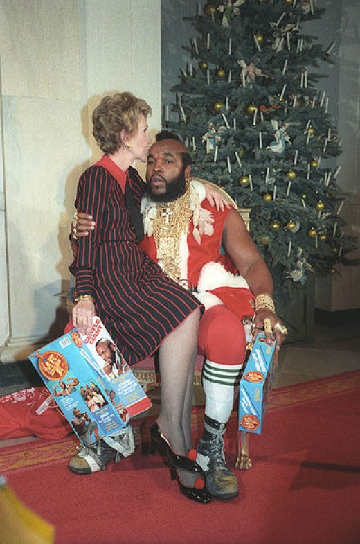 Mr. T's style lured Nancy Reagan into his lap.  You need gold like this!