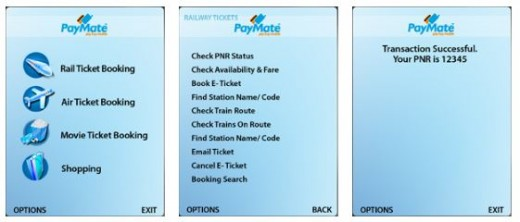 Paymate for online railway ticket booking