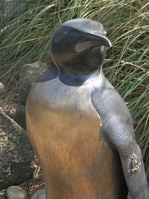 Bronze Statue of Nils Olav in Edinburgh Zoo