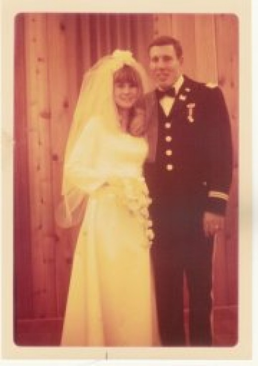 my uncle Dale and Aunt Ruby on their wedding day