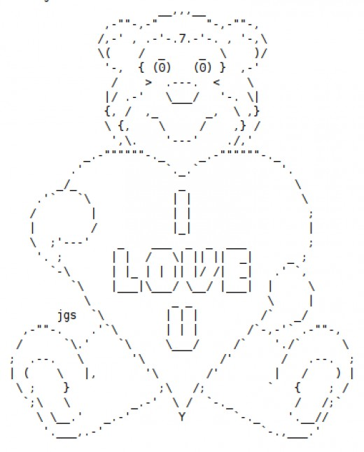 One Line Text Art Hug : Ascii hearts and flowers auto design tech