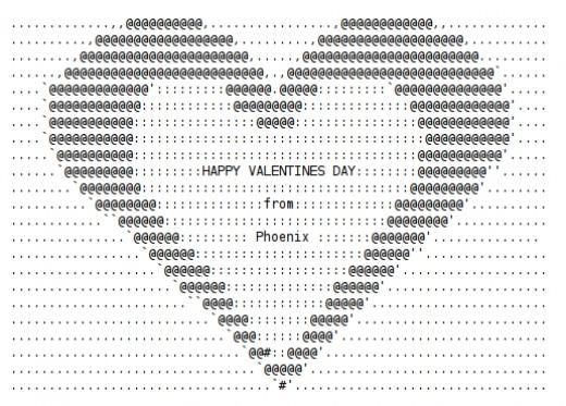 Valentine ascii text art hearts hubpages for Ascii text decoration