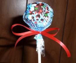 Winter Wonderland Cake Pop Wrapped