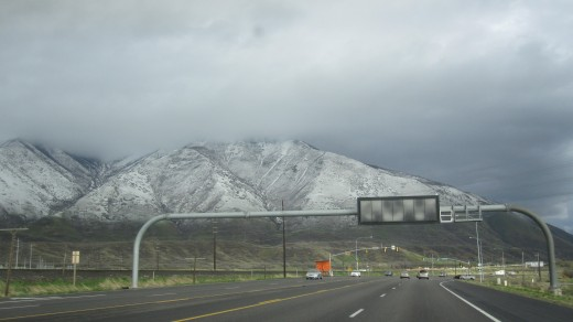 It was definitely winter in Salt Lake City.