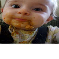 Baby with solid food